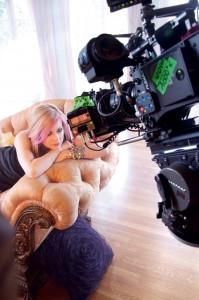 Avril sur le tournage de la publicité de Wild Rose