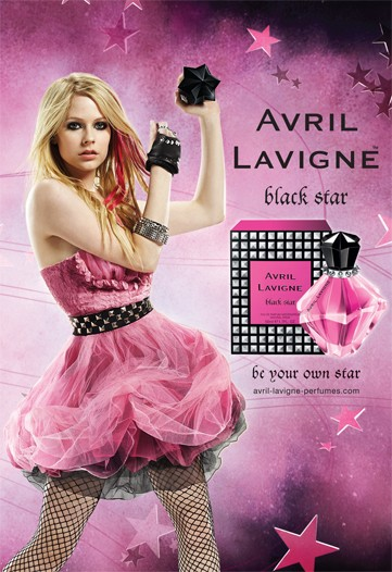 Avril_Lavigne_Black_Star_fragrance_poster